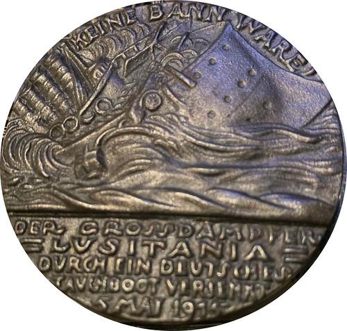 Goetz Lusitania medal reverse
