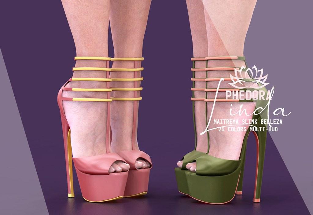 "Phedora. for FaMESHed X – ""Linda"" heels ♥"
