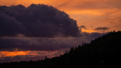 summer vacation outside outdoors camping family newyork ny inlet seventhlake adirondacks lakelife relaxation enjoyment evening night sony alpha a7rii ilce7rm2 nex ilce bealpha sonyshooter sel100400gm 100400mm telephoto zoom gm gmaster sunset clouds sky colorful beauty distance trees house stormy foreboding