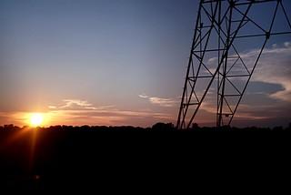 Power Pylon Sunset Colors
