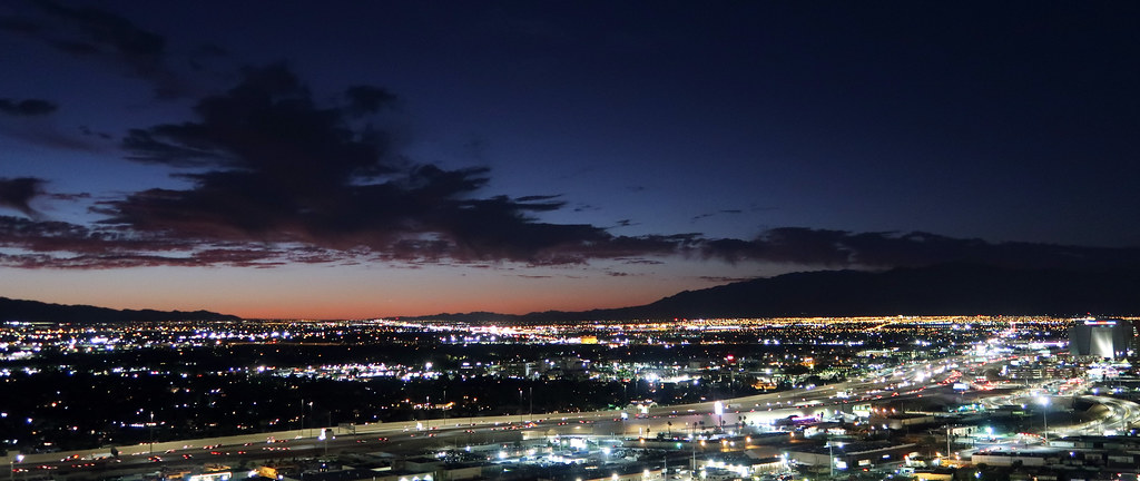 Nautical twilight in Las Vegas