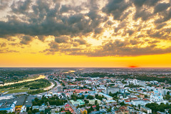 Summer sunset | Kaunas aerial