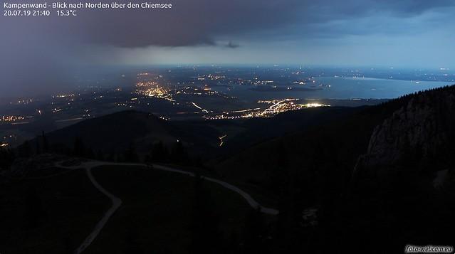 Gewitter Einzug Chiemgau