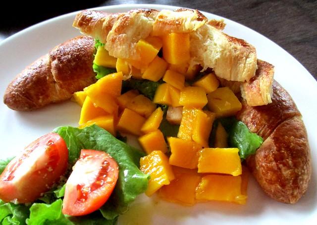 Mango chicken croissant