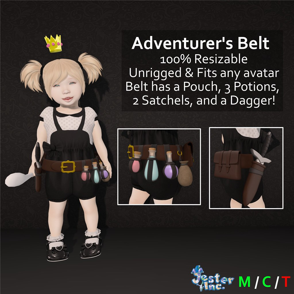 Presenting the new Adventurer's Belt from Jester Inc.