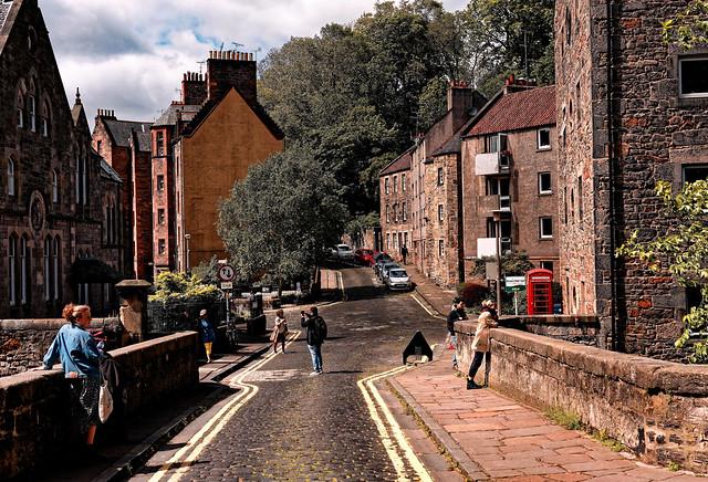 Edinburgh / Dean Village / On the bridge / Dean Path - Bells Brae