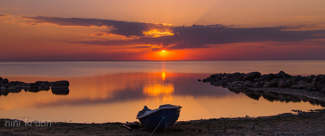 Sunset above the Baltic Sea