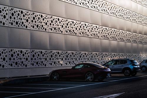 architektur fassaden fenstertüren architecture nikon d850 goetzinger facade parking baden 2019 building noon mercedes