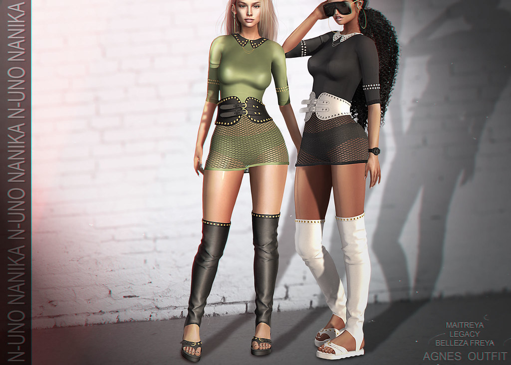 N-Uno & Nanika // Agnes outfit // GACHA // Shiny Shabby
