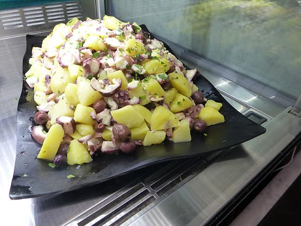 salade de pommes de terre au poulpe