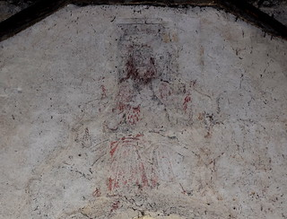 wall painting: Christ in Judgement with blood spurting from his wounds
