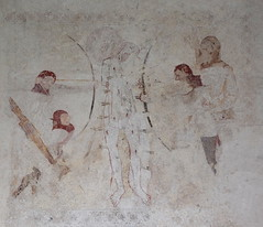 wall painting: martyrdom of St Edmund