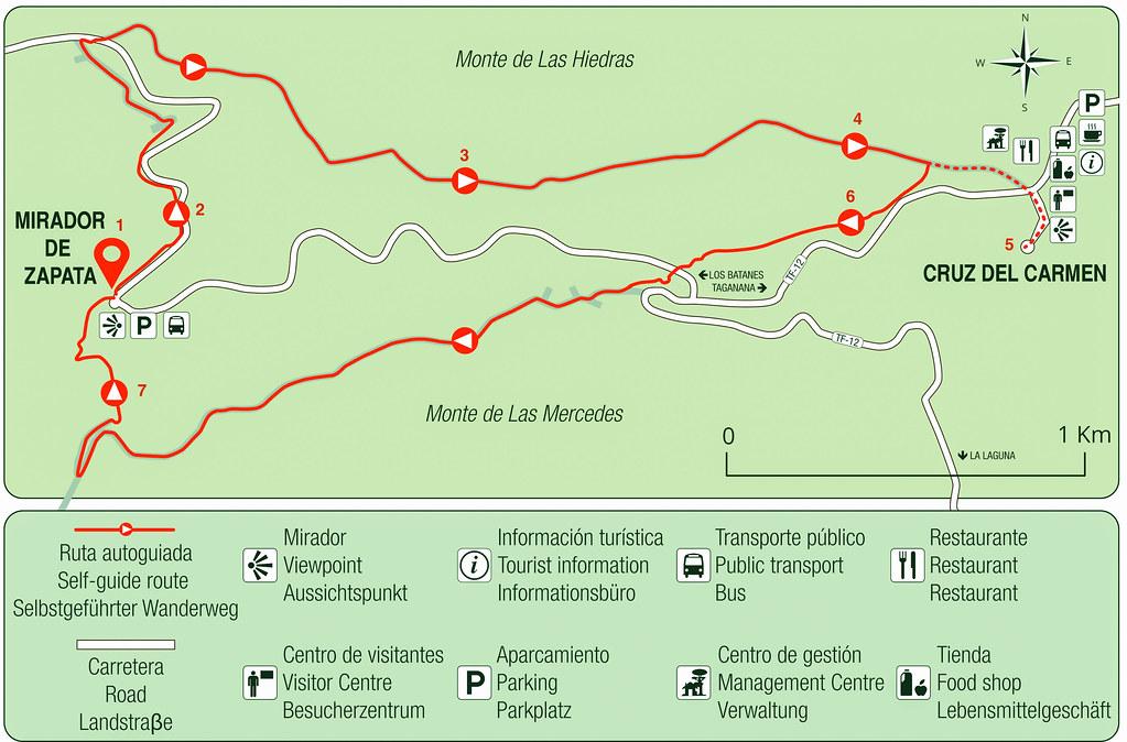 Mapa sendero de el Bosque de los Enigmas