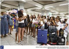 Andrea Perelló, arribada a l'aeroport de Palma 2019.