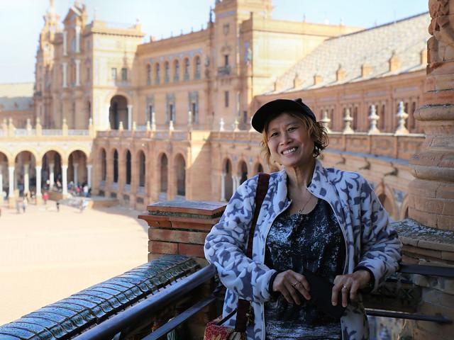 Kanitha enjoying Plaza de España in Seville