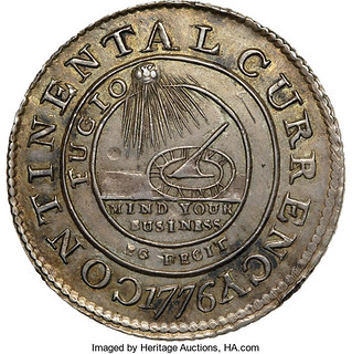 Continental Dollar in silver obverse