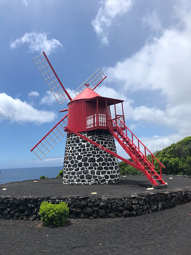 Typical red windmill of Pico | by .niels
