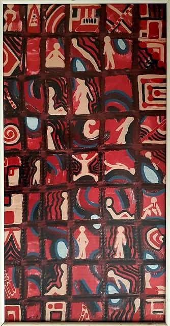 Diseños puntillistas en acrilico artista israelita mirit ben-nun