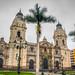 Plaza de Armas. Lima. Portada Central de la Catedral.