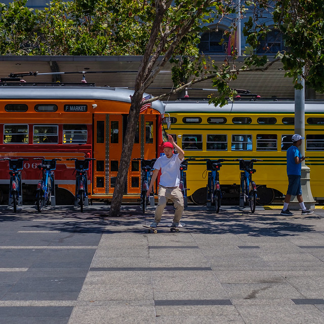 A piece of walkway synthesizes a street that happens, to a bus