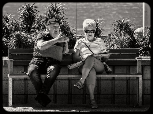 Old Friends Sat On Their Park Bench Like Bookends What an Amazing Album | by bidkev1 and son (see profile)