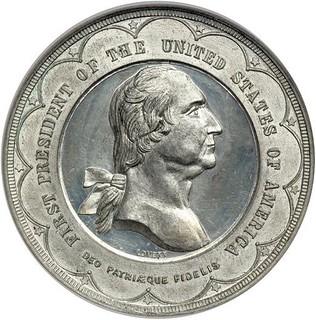 1889 Washington Inaugural Centennial Brooklyn Bridge Medal obverse