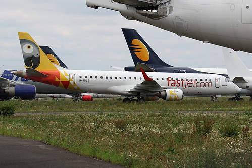 M-ABLT (ex 5H-FJI) Embraer 190 (FastJet Tanzania colors) LDE