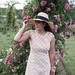 tan and white polka dot dress, straw sun hat, bamboo bag, white slides-32.jpg