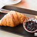 Croissant and housemade blueberry mint jam