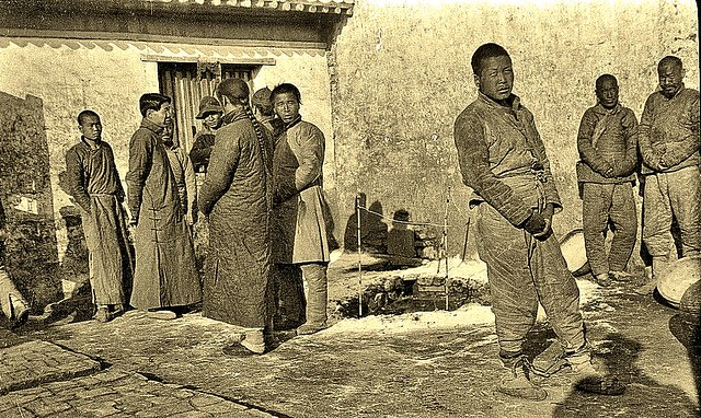 prison courtyard, Peking ca1918 [Gamble]
