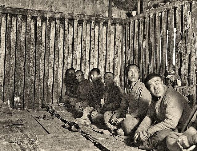 Interior of old style prison, Peking ca1918 [Gamble]