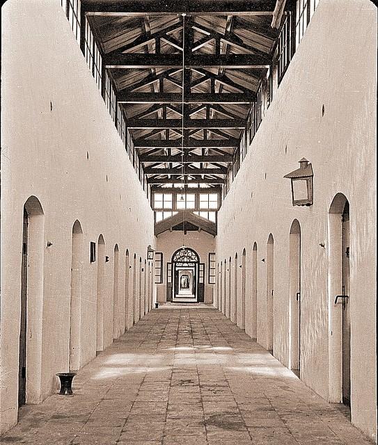 hallway in new prison, Peking 1918 [Gamble]