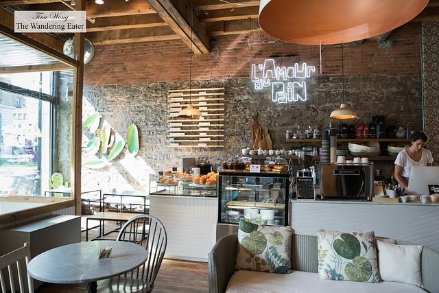Interior of cafe