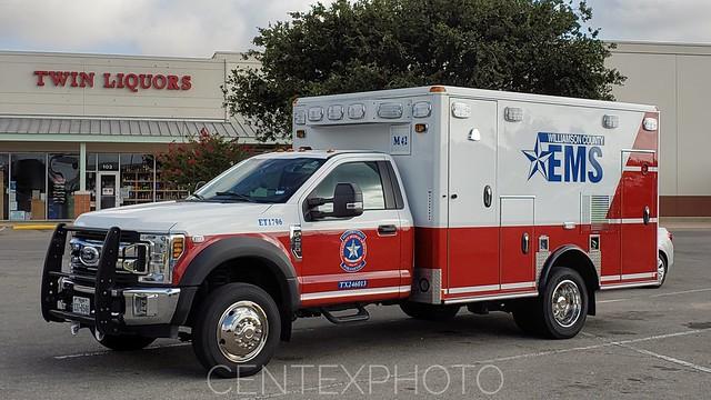 Williamson County, TX EMS Medic 42 Ford F-450 Wheeled Coach Ambulance
