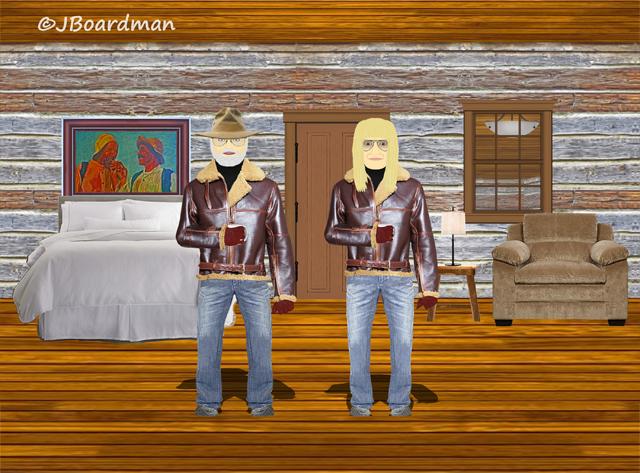 Boomer & Chris Earp met inside Boomer's Cabin ©Jack Boardman