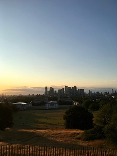 View From Greenwich Park At Dusk