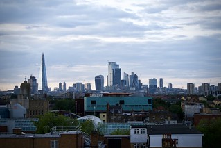 London from a roof top cafe in Peckham