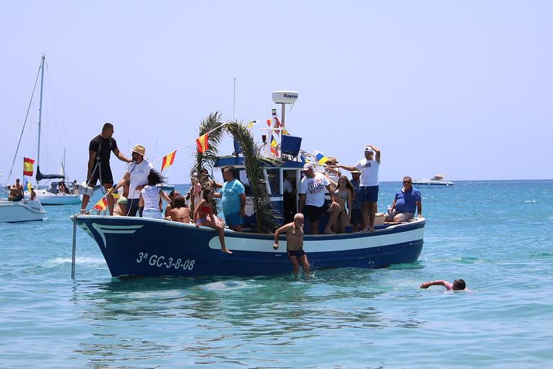 Procesión marítima en Playa Blanca
