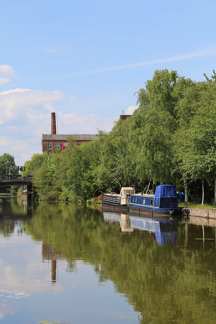 22nd June 2019.  The Bridgewater Canal at Barton-upon-Irwell, Greater Manchester.