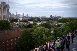 London from a rooftop cafe in Peckham
