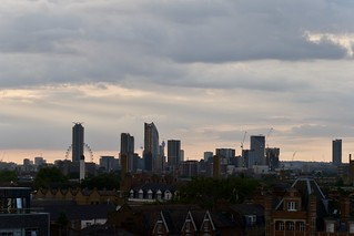 London from a roof topcafe in Peckham