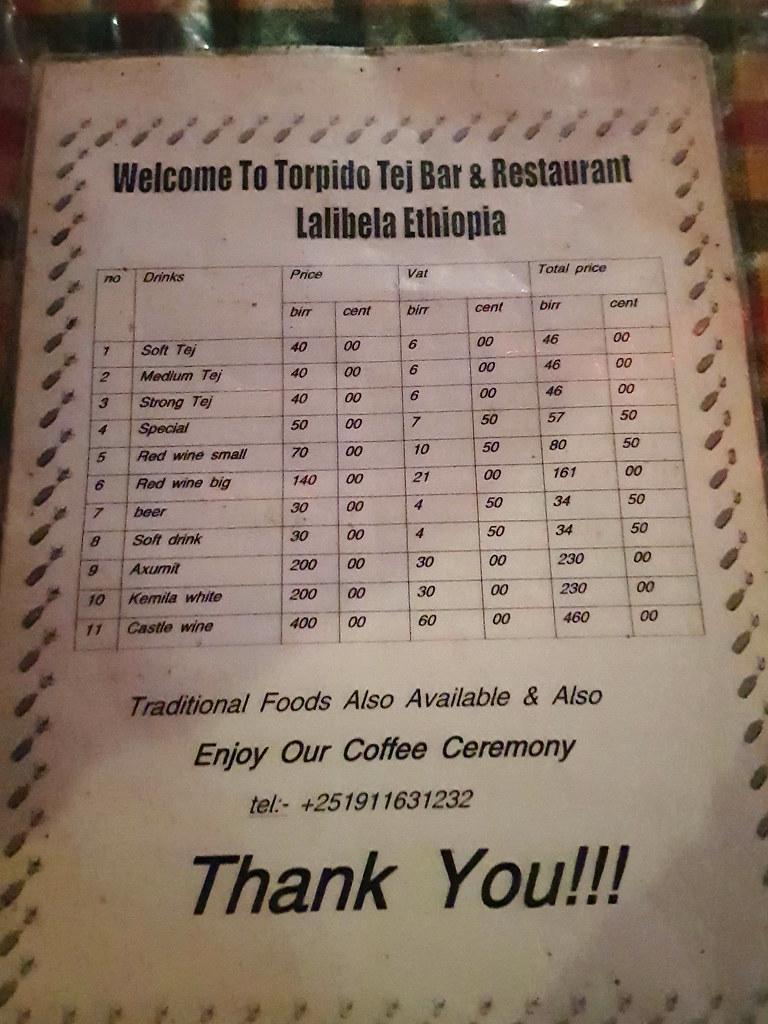 Torpido Tej Bar & Restaurant Lalibela