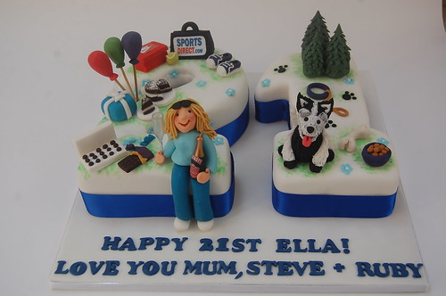 Surprising Ellas 21St Cake Beautiful Birthday Cakes Funny Birthday Cards Online Overcheapnameinfo