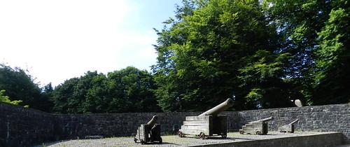 cañones exterior Castillo de Bunratty Republica de Irlanda