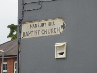 Park Street, Stourbridge - Sign to Hanbury Hill Baptist Church