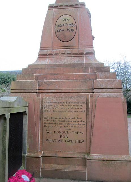 Inverness War Memorial Further Dedication