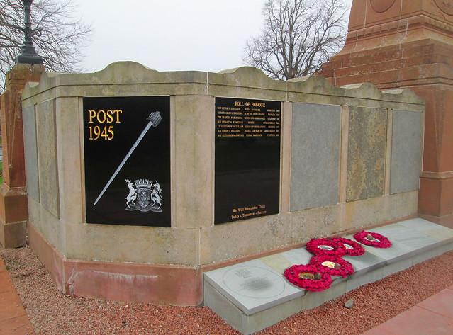 Inverness War Memorial Post 1945