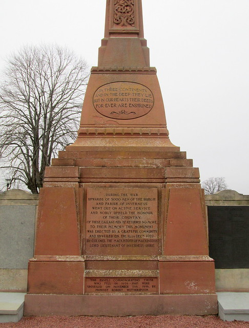 Fourth Dedication, Inverness War Memorial