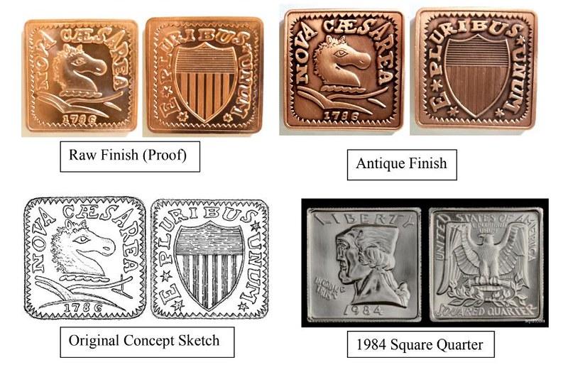 Square New Jersey copper design