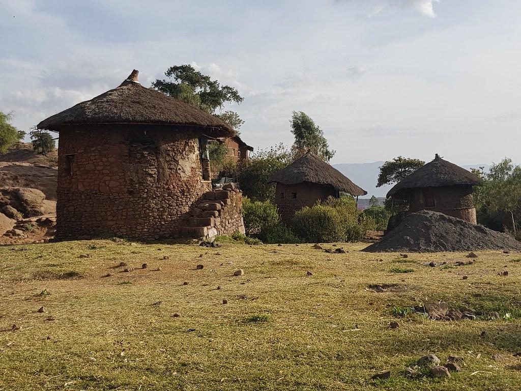Lalibela tradycyjne domy, Ethiopia